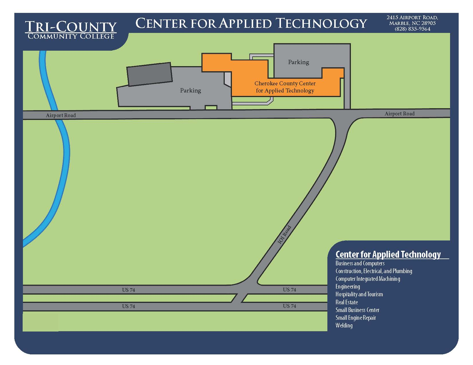 Campus Map for Cherokee Center for Applied Technology