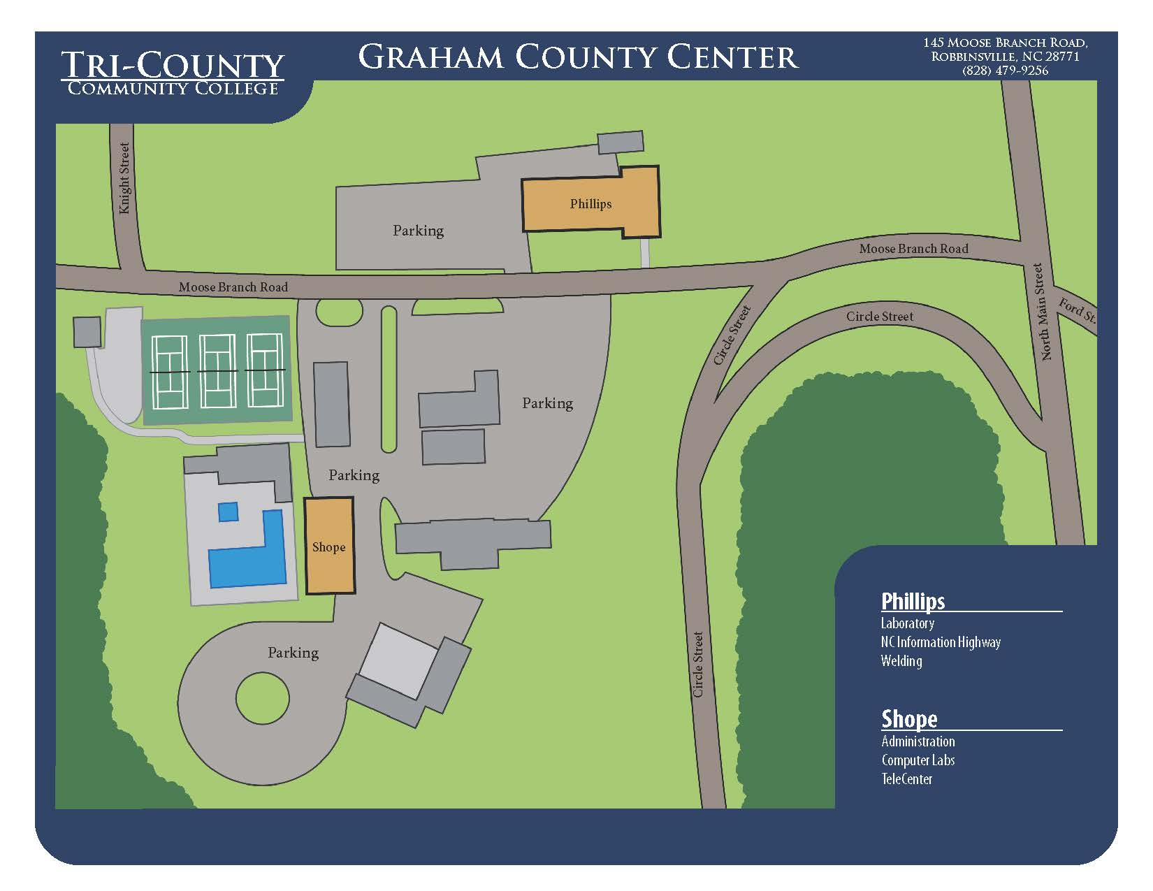 Graham County Center Campus Map