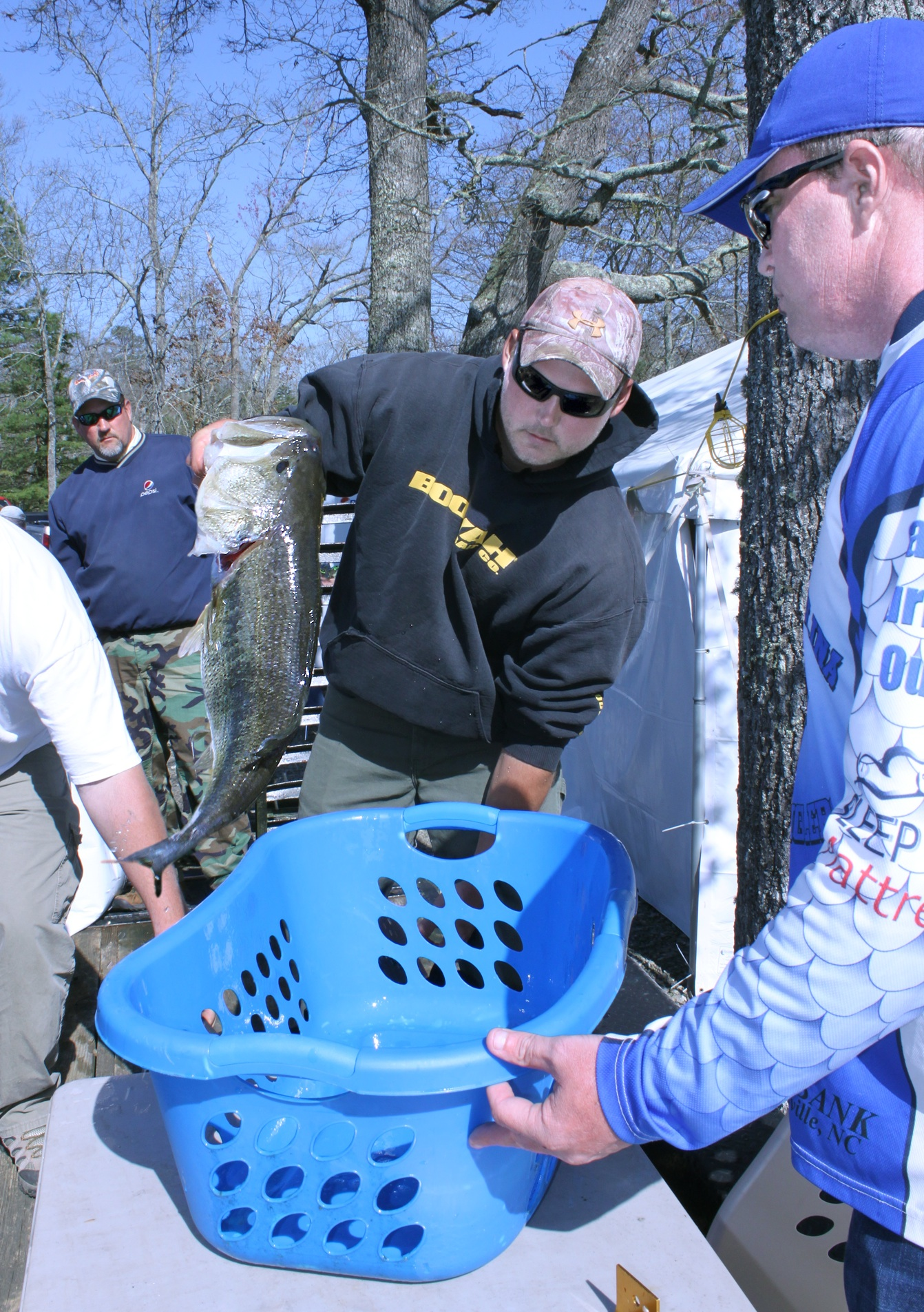 Largest fish caught in Tri-County Community College's Bass Tournament