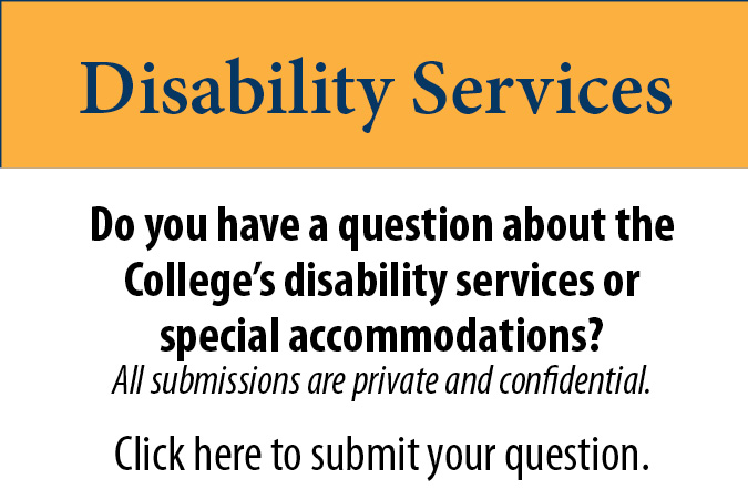 Disability Questions for Tri-County Community College Students