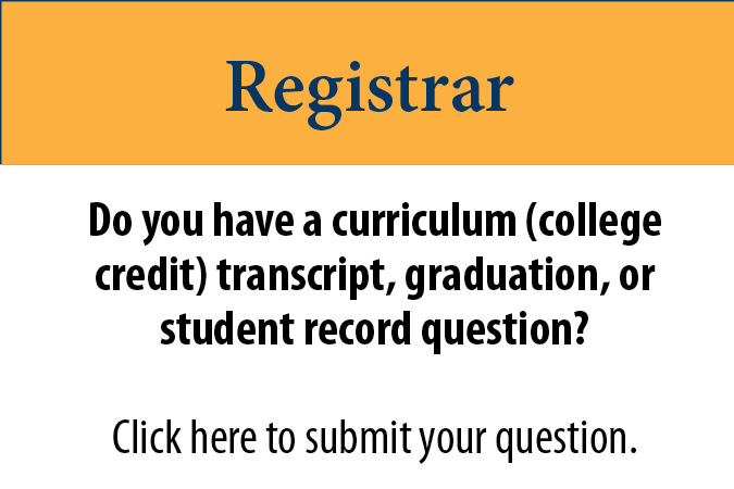 Registrar Questions for Tri-County Community College Students