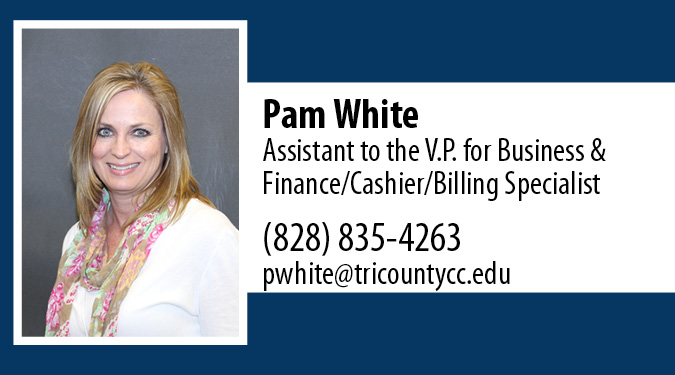 Contact Pam White for Business Office Questions
