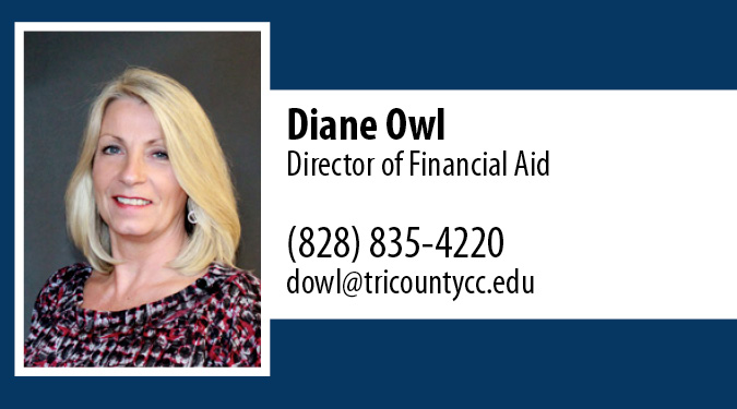 Contact Diane Owl with Financial Aid Questions