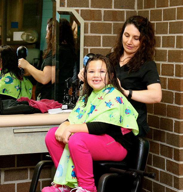 Tri-County Community College Cosmetology Student Elena Wimpey