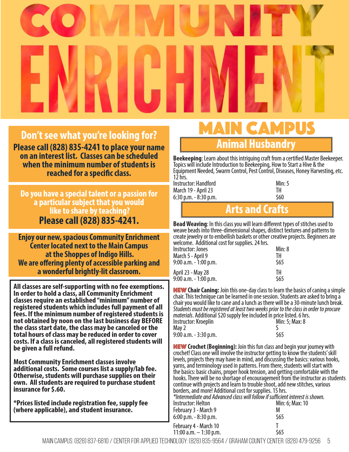 Community Enrichment Fall 2019
